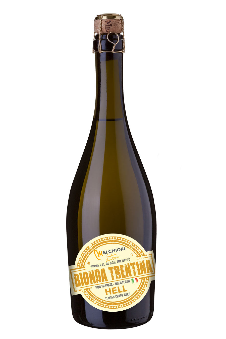 Melchiori Craft Hells Blonde Beer from Trentino 75cl - Agrumia