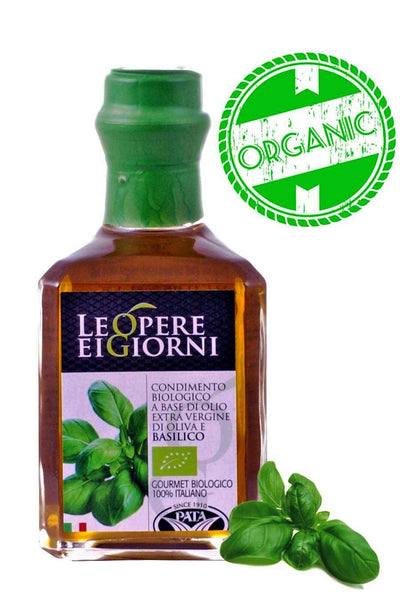 Organic Italian Basil Infused Extra Virgin Olive Oil 250ml - Agrumia