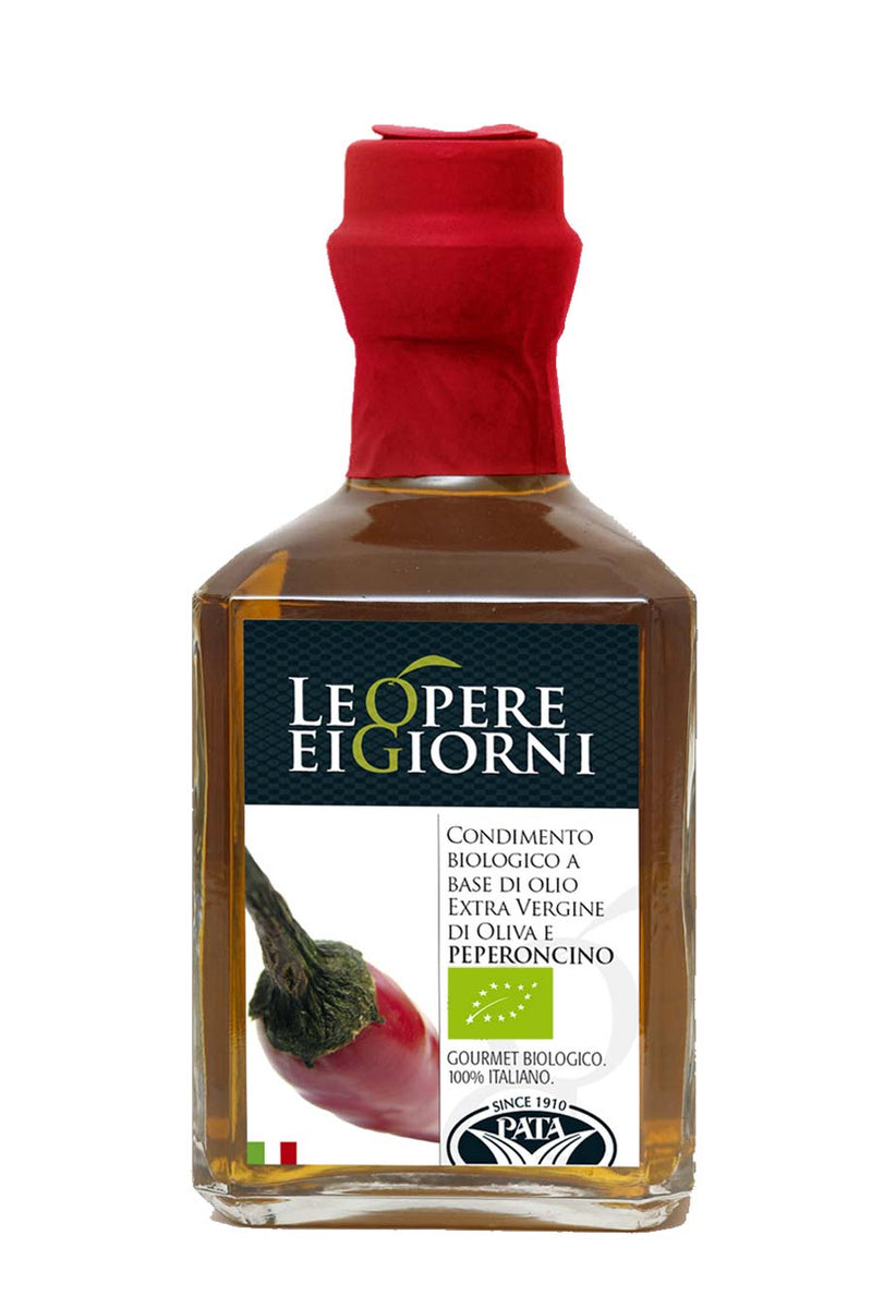 Italian Organic Chilli Infused Extra Virgin Olive Oil 250ml - Agrumia