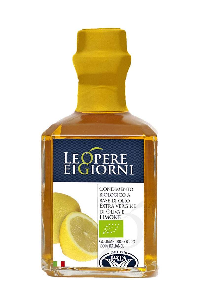 Organic Lemon Infused Extra Virgin Olive Oil 250ml - Agrumia