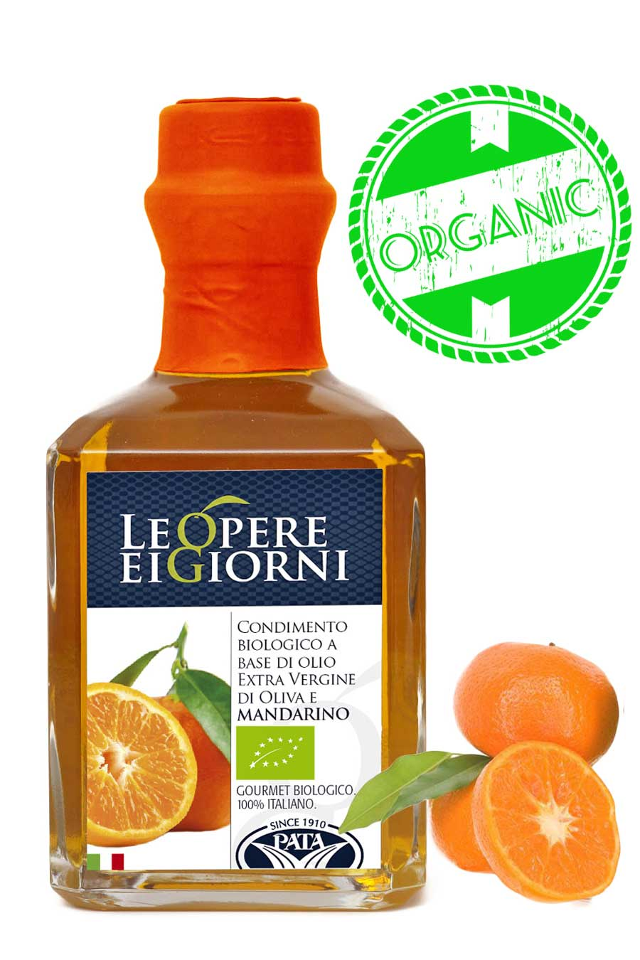 Italian Organic Mandarin Infused Extra Virgin Olive Oil 250ml - Agrumia
