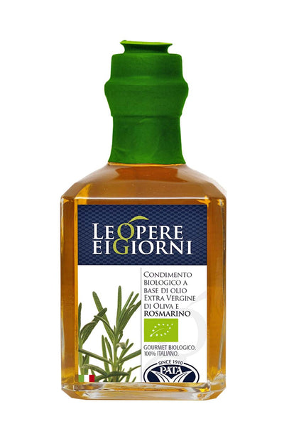 Organic Rosemary Infused Extra Virgin Olive Oil 250ml - Agrumia
