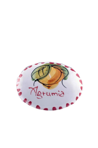 Agrumia Handmade Ceramic Fridge Magnetic Plaque - Agrumia