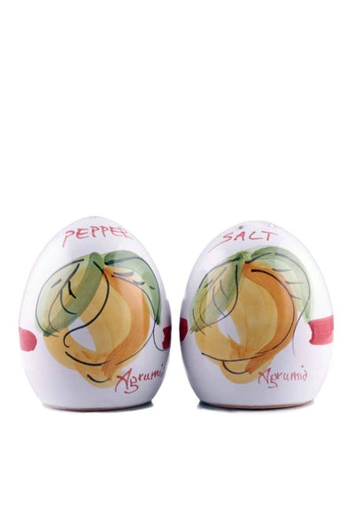 Agrumia Handmade Ceramic Salt & Pepper Dispenser - Agrumia