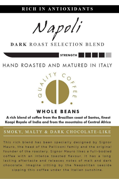 AROMISTICO COFFEE Premium Roasted Whole COFFEE BEANS NAPOLI BLEND - Agrumia