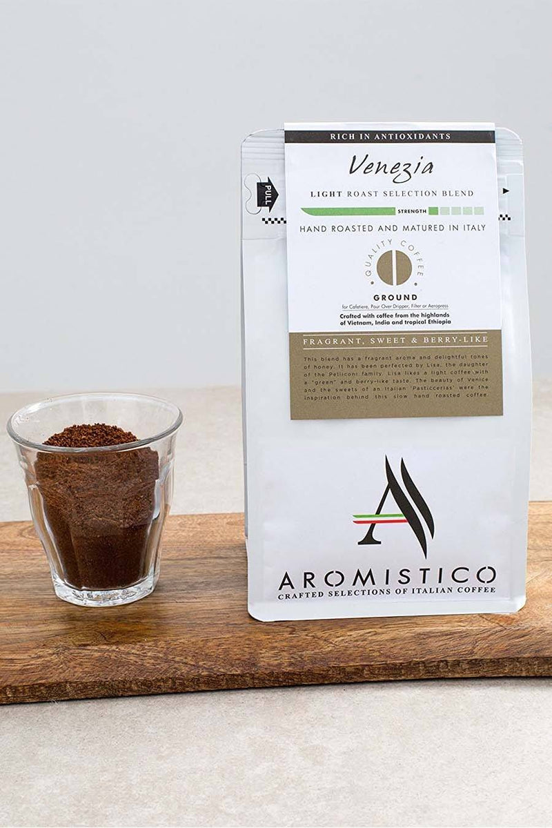 Aromistico Coffee Premium Italian Ground Coffee Venezia Blend