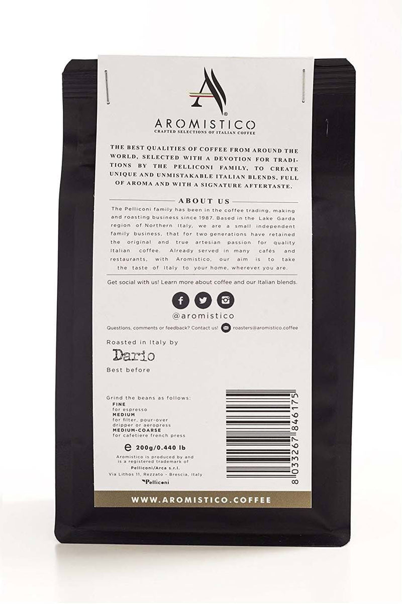Aromistico Premium Italian Roasted Whole Coffee Beans Venezia Blend