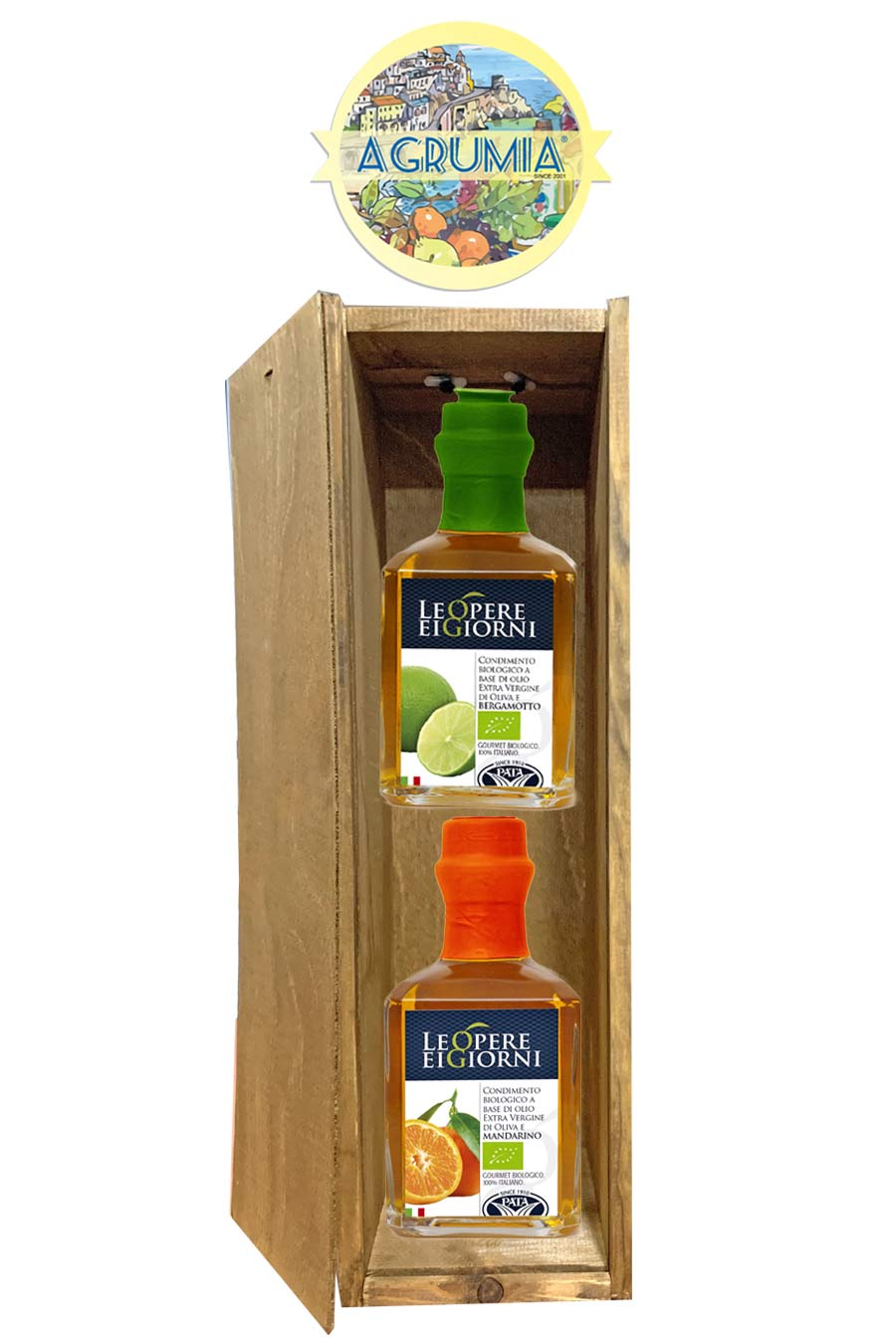 Agrumia Twin Infused Olive oil Gift Hamper