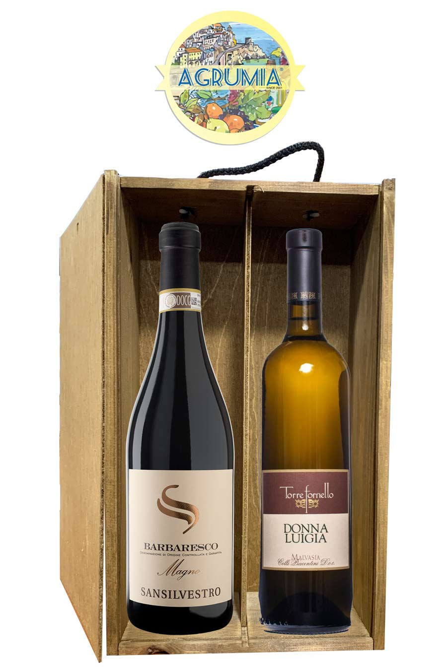 Agrumia Premium Two Bottle Italian Wine Hamper