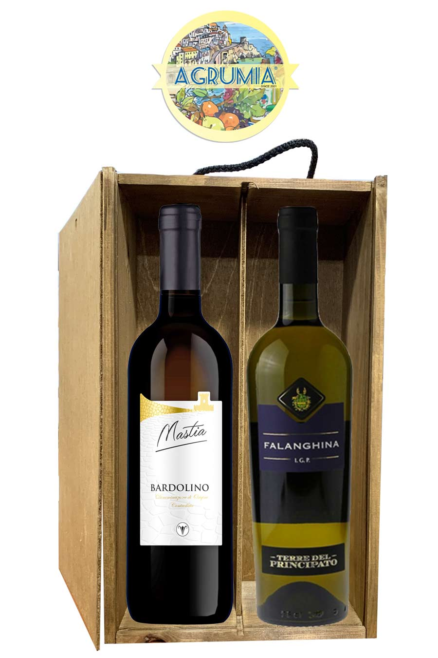 Agrumia Classic Twin Bottle Italian Wine Hamper