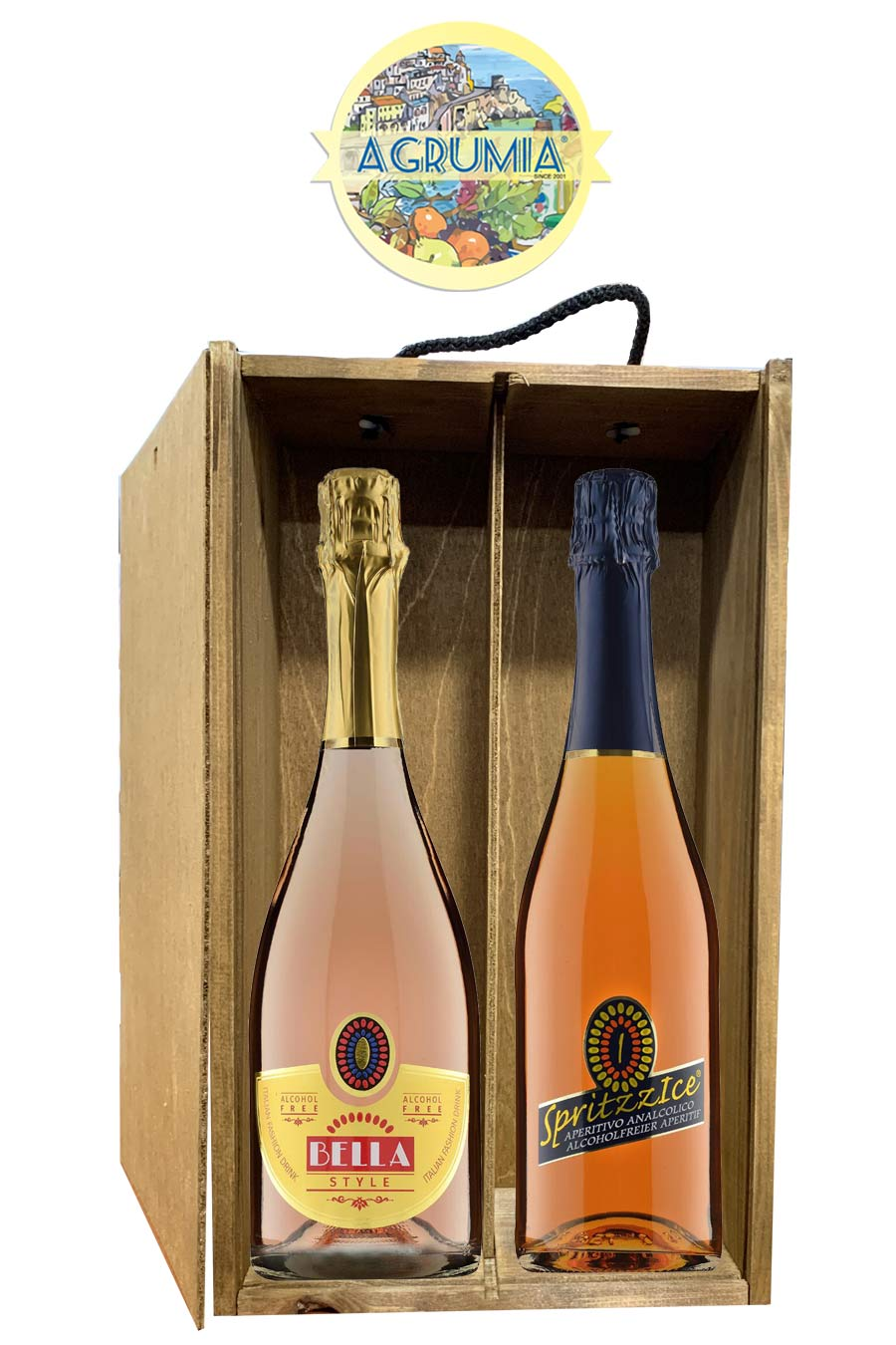Agrumia Twin Alcohol-Free Wine Hamper
