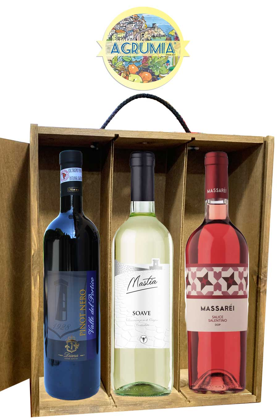 Agrumia Classic Triple Bottle Italian Wine Hamper