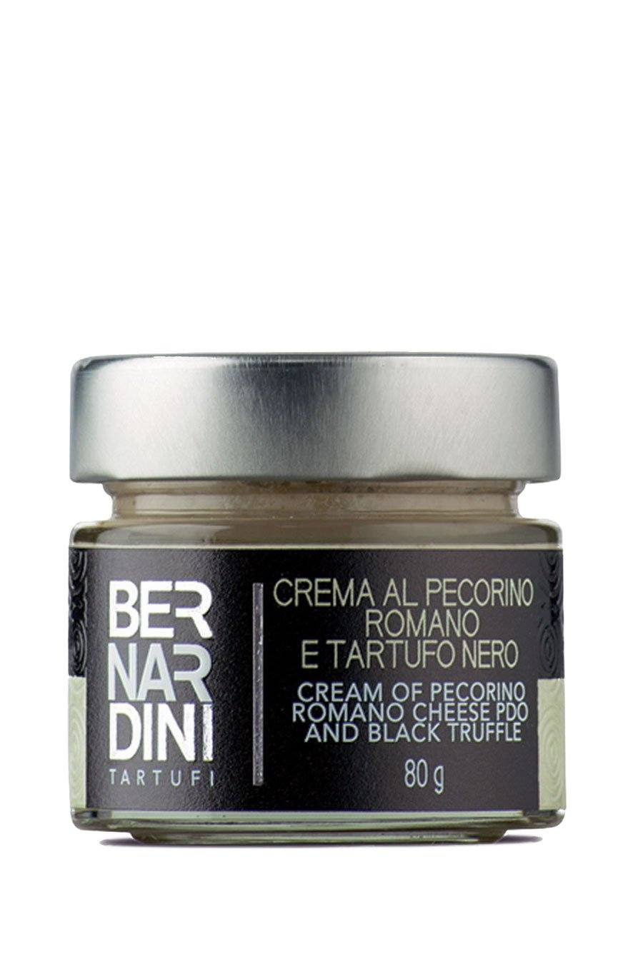 Cream of Pecorino Romano Cheese PDO and Black Truffle 80g - Agrumia