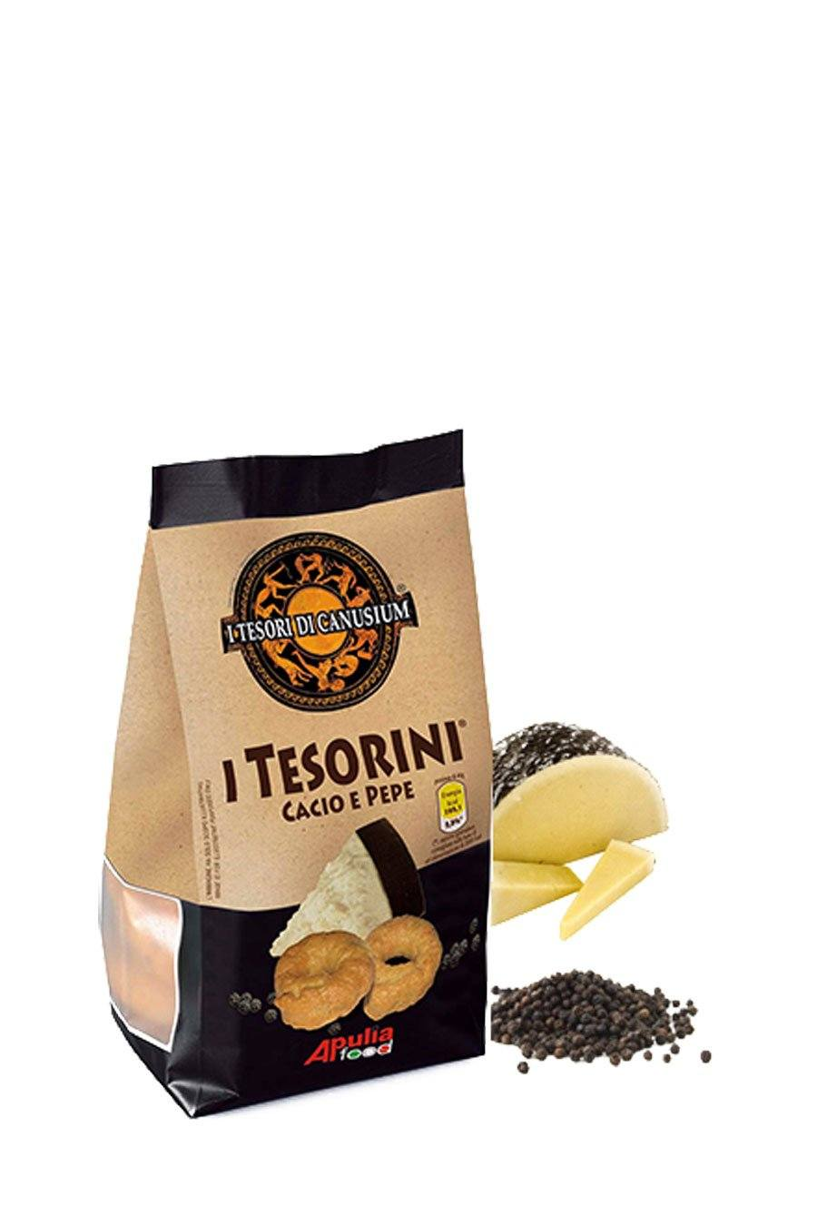 Italian Taralli Cheese & Pepper 225g - Agrumia