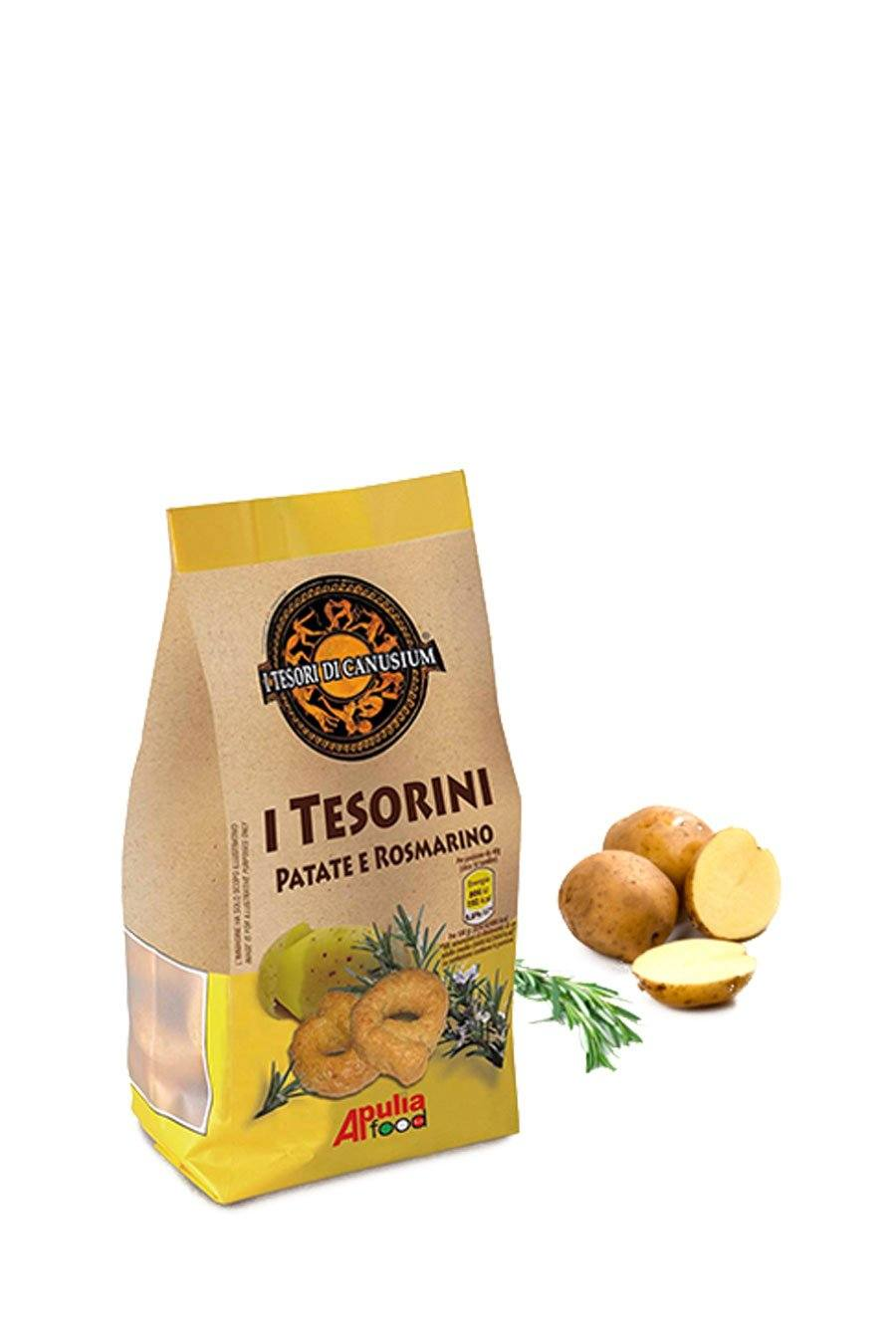 Italian Taralli with Potato & Rosemary 225g - Agrumia