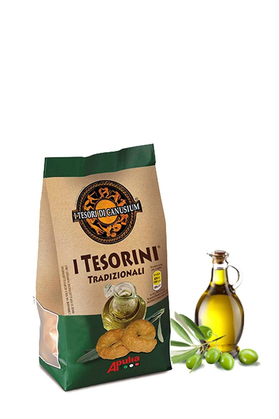 Italian Traditional Taralli with Extra Virgin Olive oil 225g - Agrumia