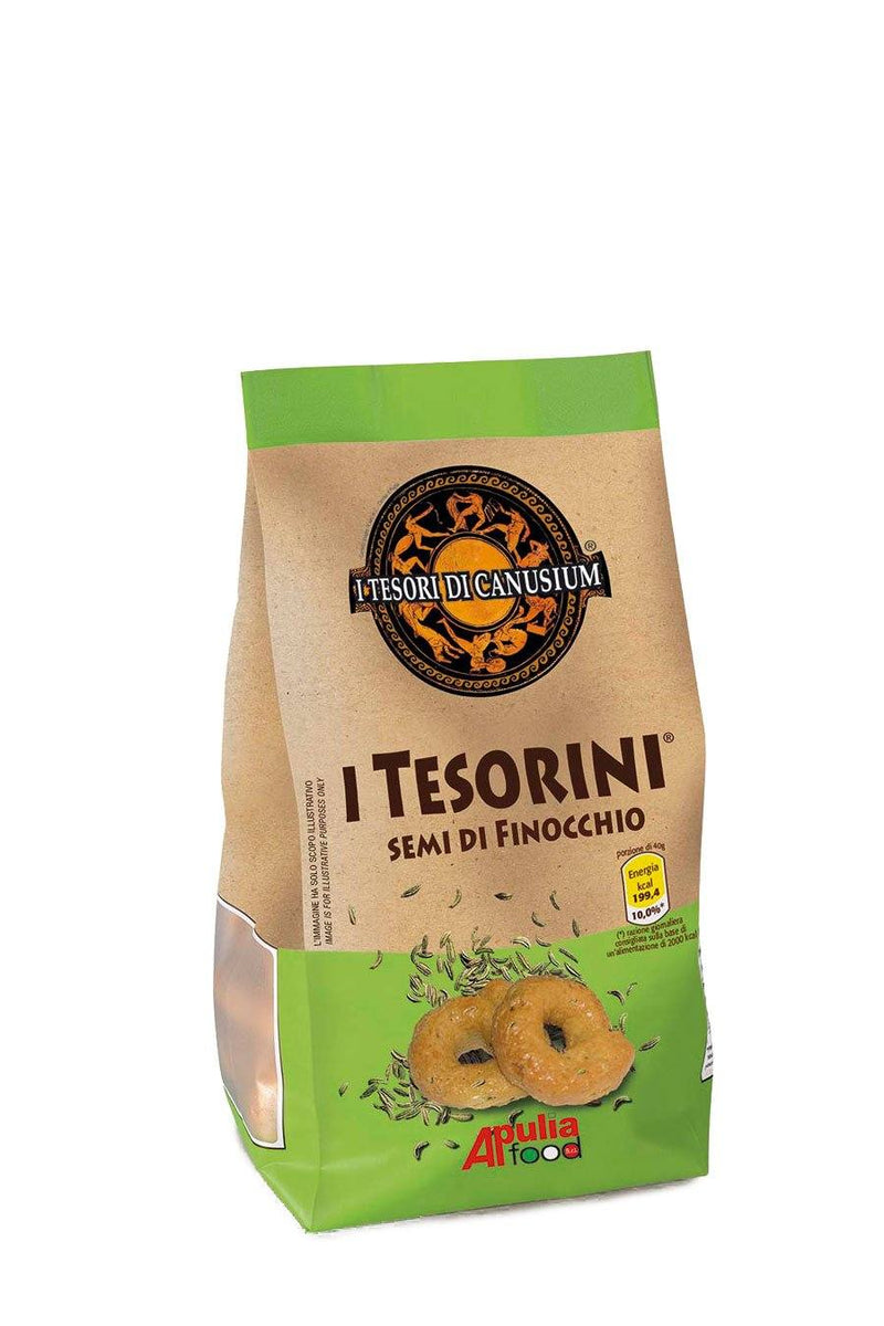 Italian Traditional Taralli with Fennel Seeds 225g - Agrumia