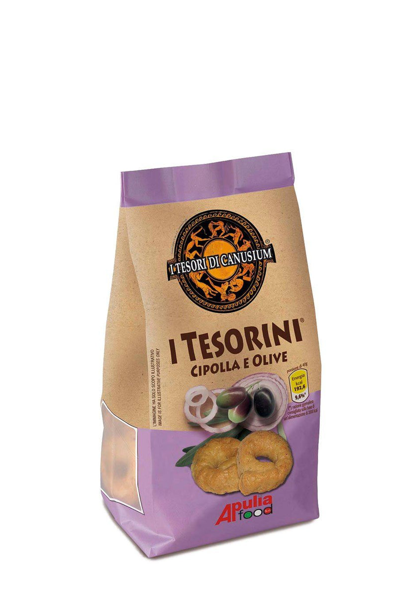 Italian Taralli with Onion & Olives 225g