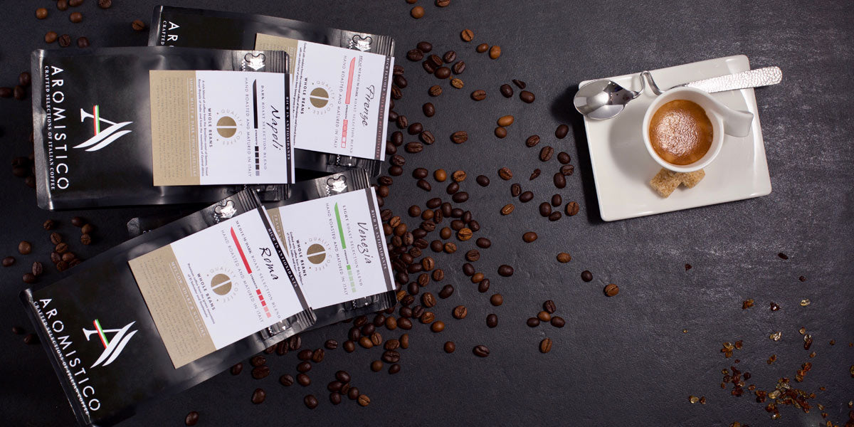 Premium Artisan Hand Roasted Coffee Beans Matured in Italy - Agrumia