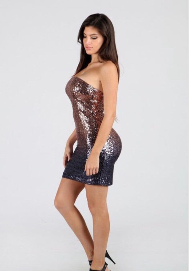 Ombre sequin dress - PASH BOUTIQUE