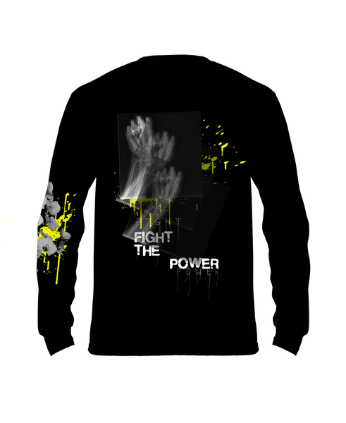 FIGHT THE POWER SKELETON FIST LONG SLEEVE