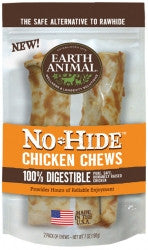 Earth Animal All Natural No-Hide Chicken Chews 7""