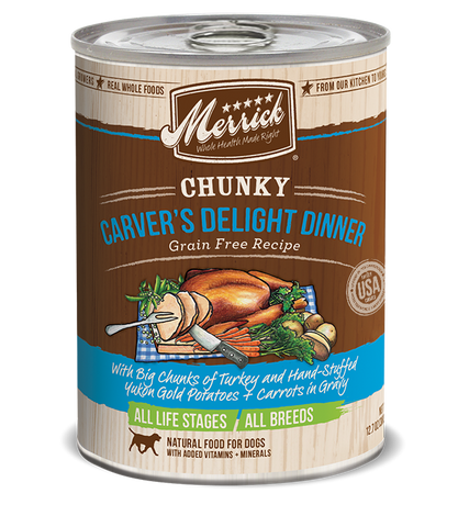 Merrick Chunky Carver's Delight Dinner Grain Free Recipe