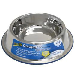 Durapet Stainless Steel No-Tip Bowl