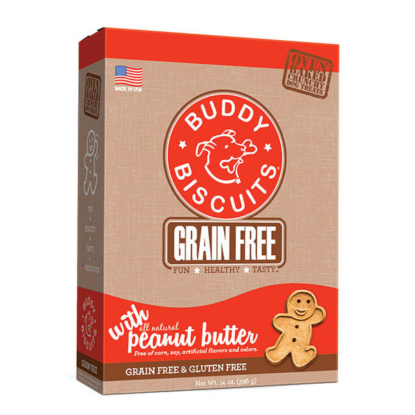 Buddy Biscuit Grain Free Oven Baked Treats: Peanut Butter