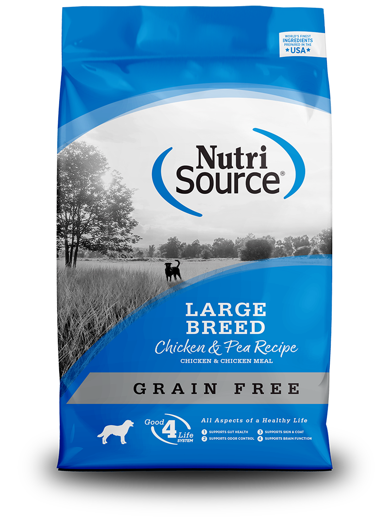 NutriSource Large Breed Chicken & Pea Formula