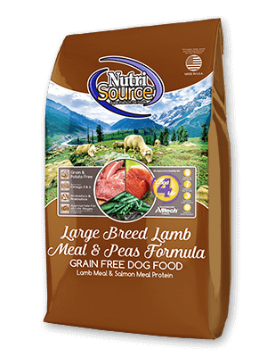 NutriSource Large Breed Lamb Meal & Peas Formula