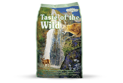 Taste of the Wild Rocky Mountain Feline® Formula with Roasted Venison & Smoked Salmon Dry Food