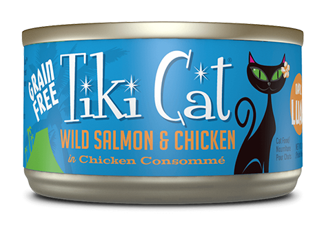 Tiki Cat Napili Luau Wild Salmon and Chicken in Chicken Consomme