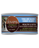 Dave's Naturally Healthy™ Grain Free Canned Cat Food Tuna and Salmon Dinner in Aspic