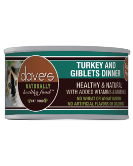 Dave's Naturally Healthy™ Grain Free Canned Cat Food Turkey & Giblets Dinner Formula