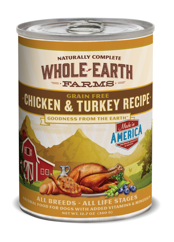 Whole Earth Farms Grain Free Chicken & Turkey Recipe dog