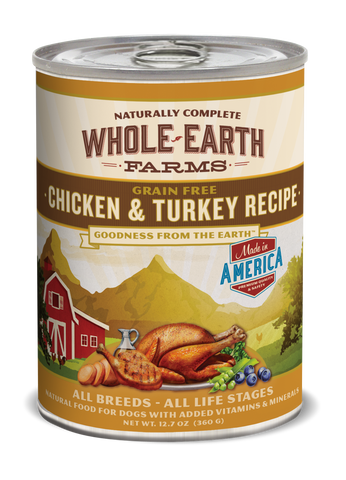 Whole Earth Farms Grain Free Chicken & Turkey Recipe dog(out of stock)