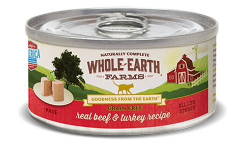 Whole Earth Grain Free Real Beef & Turkey Cat Recipe (Pate)