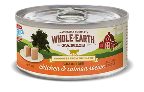 Whole Earth GF Real Chicken &  Salmon cat