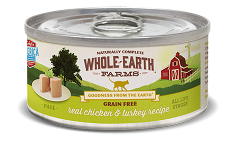 Whole Earth GF Real Chicken & Turkey Pate cat