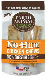 Earth Animal All Natural No-Hide Chicken Chews 4""