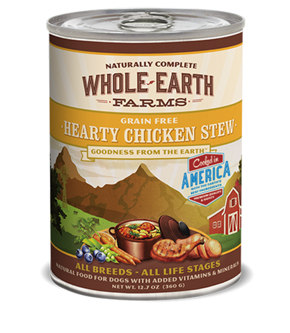 Whole Earth Farms Grain Free Hearty Chicken Stew Recipe