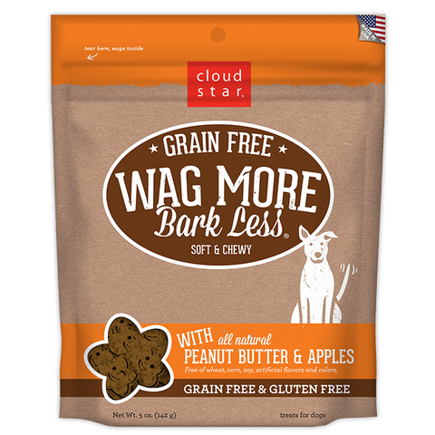 Cloud Star Wag More Bark Less Soft & Chewy Grain Free: Peanut Butter & Apples