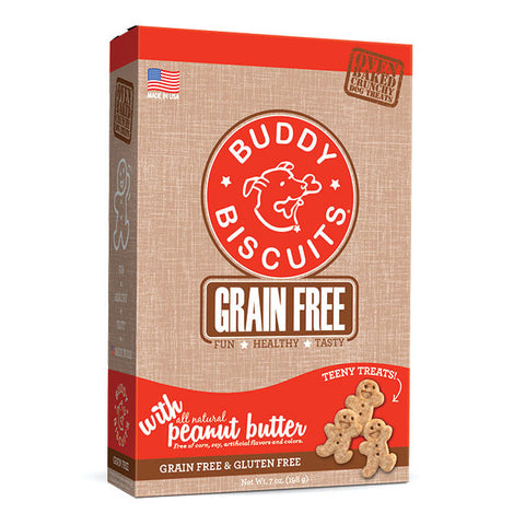 Buddy Biscuits Grain Free Oven Baked Teeny Treats: Peanut Butter