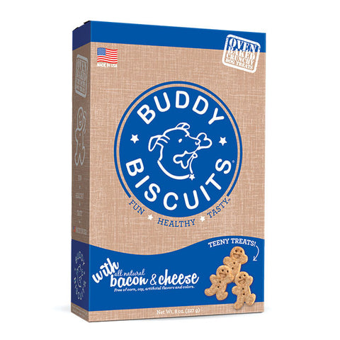 Buddy Biscuits Original Oven Baked Teeny Treats: Bacon & Cheese