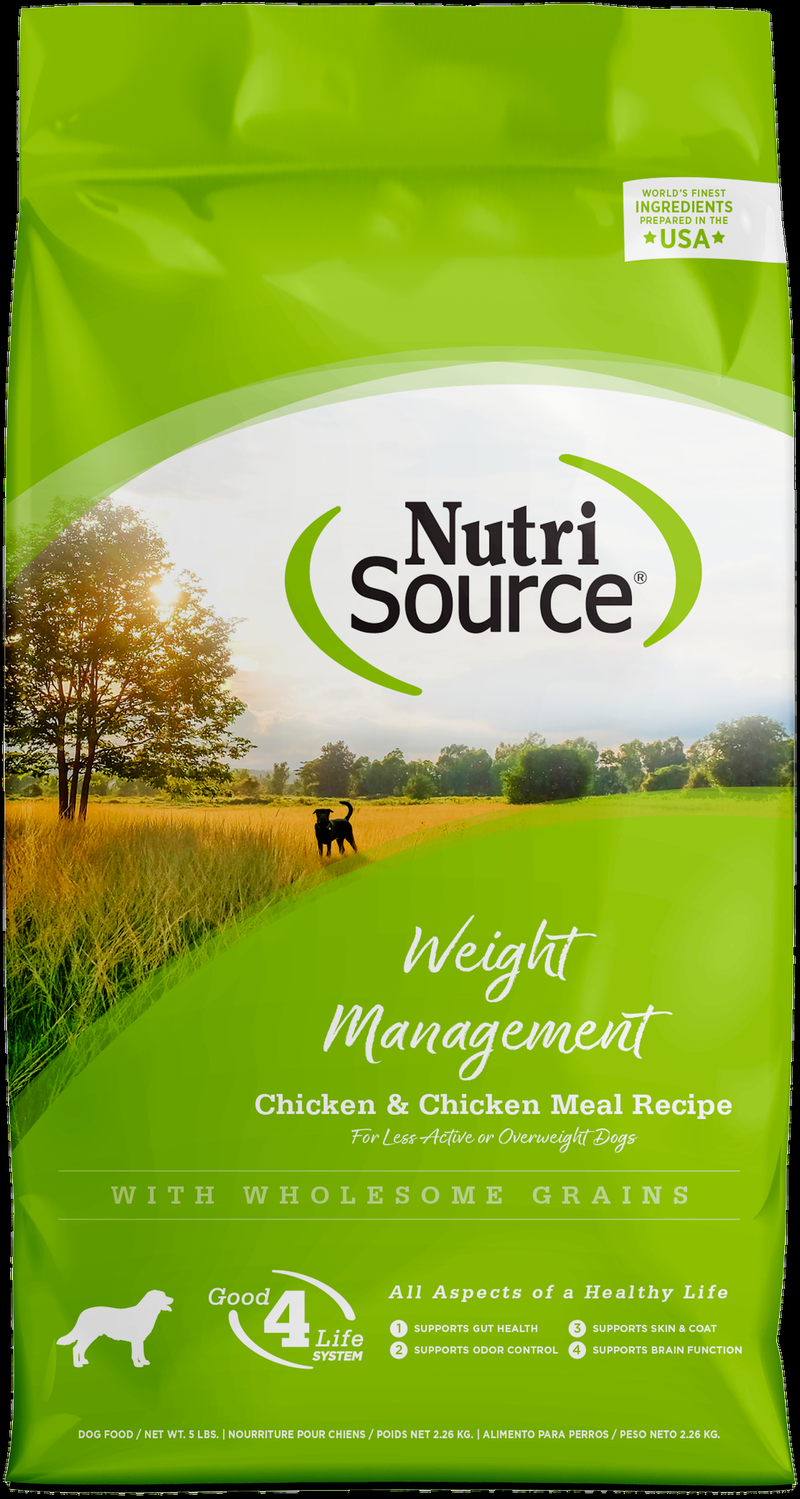 NutriSource Weight Management Chicken & Rice Dog Formula
