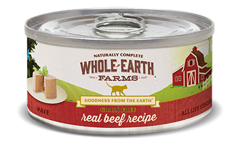 Whole Earth Grain Free Real Beef Cat Recipe (Pate)
