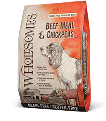 Wholesomes™ Beef Meal and Chickpeas Grain-Free formula