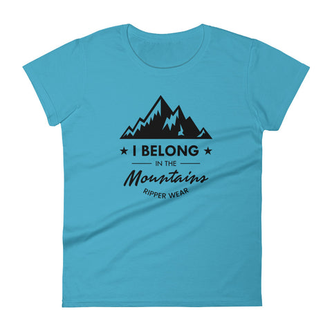 I Belong In The Mountains Women's short sleeve t-shirt