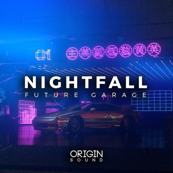 Nightfall - Future Garage Sample Pack, Origin Sound, Origin Sound - Origin Sound samples royalty free fundamental ambience pack edm electronic ableton live fl studio logic pro piano drums keys bass chords midi melodies IDM organic downtempo tisoki presets elysian utopia free samples